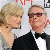 Mike Nichols with his wife,  TV journalist Diane Sawyer.