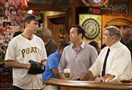 "Owen Benjamin, left, Steve Byrne and Dan Lauria in TBS's Pittsburgh-set sitcom ""Sullivan & Son."" Mr. Byrne, a comedian and Hampton High School graduate, plays the Pittsburgh Improv."