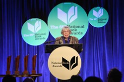 Ursula K. Le Guin at the National Book Awards on Wednesday