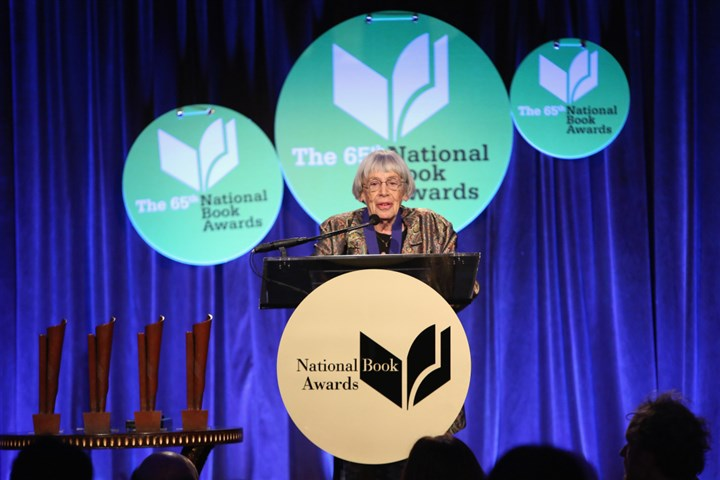 Ursula K. Le Guin Ursula K. Le Guin at the National Book Awards on Wednesday