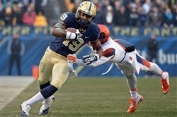 Pitt's Dontez Ford, shown trying to get by Syracuse's Brandon Reddish this past season, earned a starting role for the final three games of 2014. But he said he believes he has something to prove this spring.