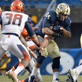Pitt's James Conner looks for running room this season against Syracuse.