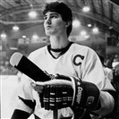 Mario Lemieux in uniform for the Laval Voisins, April 1984. (special to the Post-Gazette from Le Soleil of  Quebec)