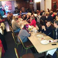 "North Siders celebrate the third annual ""Friendsgiving"" at the Elks Club."