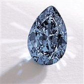 "This image provided by Sotheby's shows a fancy vivid blue pear-shaped diamond from the estate of Rachel ""Bunny"" Mellon that sold Nov. 20 for $32.6 million. It's an auction record for any blue diamond. It was sold to an anonymous Hong Kong collector."