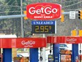 Gas prices at a GetGo station on Route 88 in Bethel Park. In Pittsburgh, the average price on Tuesday was $3.02, 35 cents below the 2013 price.