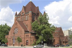 The former First Presbyterian Church, now The Ecumenical Theological Seminary in Detroit.