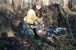 Samantha Morgan, 18, of the North Side took her seventh buck Nov. 8 in Allegheny County. Having killed a deer with a crossbow every year since she was 12, she practiced hard this year with a compound bow and downed this 8-point.