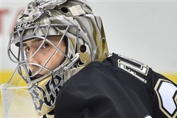 Penguins goalie Marc-Andre Fleury will likely cede one of the next two games to backup Thomas Greiss, coach Mike Johnston said.