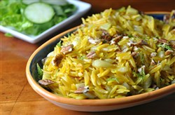 Orzo with Saffron and Fennel.