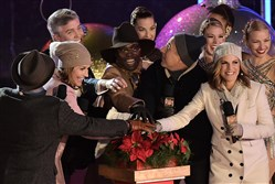 Al Roker, Savannah Guthrie, Billy Porter, Matt Lauer, and Natalie Morales appear on stage at the 82nd annual Rockefeller Christmas Tree Lighting Ceremony at Rockefeller Center.