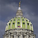 Pennsylvania State Capitol building in Harrisburg.