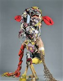 Sculptural figure made from found objects by Elisabeth Higgins O'Connor.