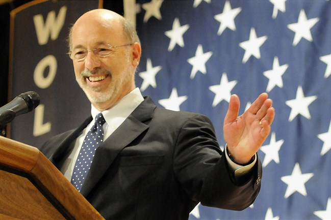 Gov. Tom Wolf wants a 5 percent severance tax in Pennsylvania on the value of the gas.