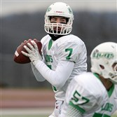 South Fayette quarterback Brett Brumbaugh passed for 140 yards Saturday in Slippery Rock to become the all-time leader in passing yards in PIAA history.