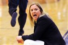 Pitt women's basketball head coach Suzie McConnell-Serio during a December game against her old team Duquesne at the A.J. Palumbo Center. Pitt lost 87-77.