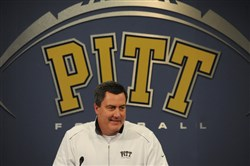 On National Signing Day Pitt head coach Paul Chryst names the students who intend to join the Pitt football team during a press conference on the South Side on Wednesday, February 5, 2014.