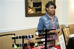 Nariah White with her customized jewelry -- Nariah's Fabulous Jewelz.