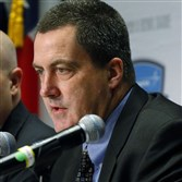 Pitt head coach Paul Chryst during the Armed Forces Bowl press conference in Texas on Monday.