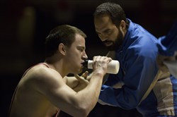 "In ""Foxcatcher,"" Channing Tatum, left, as Mark Schultz gives the best performance of his career, while Mark Ruffalo as Dave Schultz is also at the top of his game."
