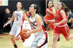 Madison Serio Averaged 11.1 points per game last season for the Upper St. Clair girls basketball team.