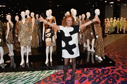 Designer Diane von Furstenberg was among the designers who treated legwear like another accessory for their fall/winter collections at New York Fashion Week.
