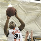 Beaver Falls' Donovan Jeter, a 6-foot-5 sophomore, shown scoring against Mars Area during a game last season, is one of the Tigers' top offensive threats.