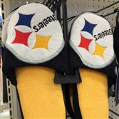 These Steelers slippers are available for less than $15 at Target.