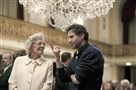 "Vanessa Redgrave and ""Foxcatcher"" director Bennett Miller go over a scene at the Omni William Penn Hotel, Downtown."
