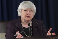Federal Reserve Chair Janet Yellen makes a statement on jobs and economic outlook in Washington.