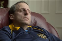 "Steve Carell gives an outstanding performance as John du Pont in ""Foxcatcher."""
