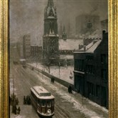 "Artist Martin D. Leisser's ""A March Snow Storm: Sixth Avenue in 1902"" belongs to the Duquesne Club's art collection. The urban scene was likely inspired by a foot of snow that fell on the city in early March of that year. We bring this to you, in the ninth year of a Pittsburgh Post-Gazette tradition, to mark the blessings of the season and to wish our readers every happiness."