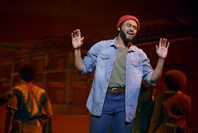 "Jarran Muse as Marvin Gaye in ""Motown the Musical."""