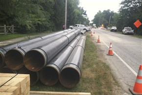 Columbia Gas' project involves putting a pipeline under the Maumee River between Maumee and Perrysburg in Ohio.