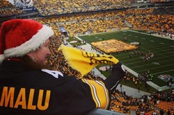 Terrible Towels, big and small, waved at Heinz Field for the Steelers-Chiefs game on Sunday afternoon.