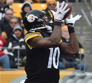 Steelers Martavis Bryant has seven touchdown catches this season.