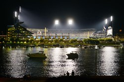 The Pirates play the Reds at PNC Park in the wild card National League playoff game.