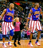 Flight Time, left, and Hi-Lite of the Harlem Globetrotters.