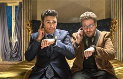 "Dave (James Franco) and Aaron (Seth Rogen) in ""The Interview."""