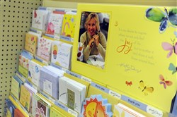 The Kathy Davis card display at the Wegman's in the Shops at Valley Square in Warrington, Pa.