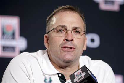 Pat Narduzzi served as Michigan State defensive coordinator for the past eight seasons. He was named head coach at Pitt today.