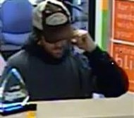Authorities are seeking the public's help in locating this robbery suspect in connection with a theft Monday afternoon at the PNC bank branch in Bethel Park.
