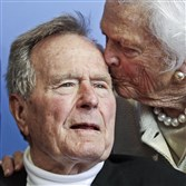 Former President George H.W. Bush, and his wife former first lady Barbara Bush