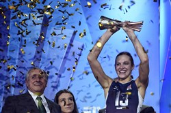 U.S. and former Penn State volleyball player  Christa Harmotto Dietzen is the Dapper Dan Sportswoman of the Year.