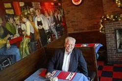 "Rick Sebak at Tessaro's in Bloomfield, one of the things noted in his  ""25 Things I Like About Pittsburgh."""