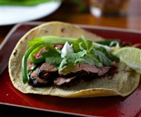 Three-Chile Bistec Adobado Tacos.