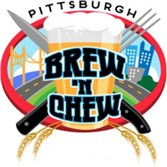 The logo of the Brew 'N Chew beer festival.