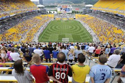 Heinz Field played host to some international soccer in 2014, when Manchester City faced AC Milan on the North Shore.
