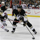 Nick Spaling handles the puck in the offensive zone for the Penguins in a home game last month against Montreal.