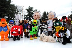 More than 35 mascots will hit the Schenley Ice Rink in Oakland for the annual Mascot Skate on Saturday.